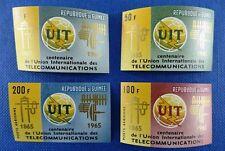 Space Raumfahrt 1965 Guinea UIT ITU Fernmeldeunion 298-301 B MNH/1108