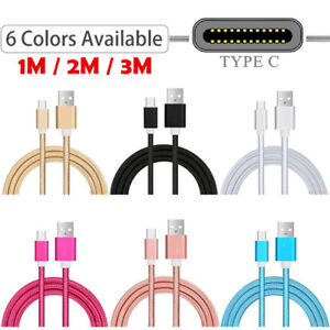 Long USB Type C Fast Data Charger Cable For Samsung Galaxy A02s A12 A32 A52 A72