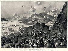 W.Stöwer Kriegsmaler * War Artist * 1.WK Eroberung des Lovcen m. kuk Flotte 1916