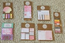 New listing Lot of 7 Page Flags, Paper Clips, Lists, Sticky Notes Stationary Planner Addicts