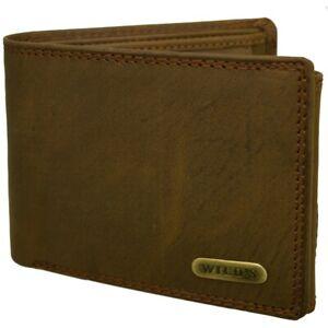 Edle Voll-Leder Herren Geldbörse Brieftasche RFID Schutz Riegelverschluss