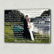 Photo with words. Anniversary Custom Canvas Print Gift Idea! Wall decor.