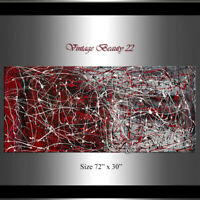 large abstract painting - Jackson Pollock Style, Contemporary modern art
