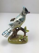 Vintage California Art Pottery Statue Figurine Bird Iridescent Glaze Cockatiel