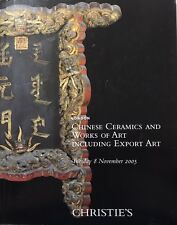 Christie's Chinese Ceramics & Works Of Art Including Export Art-London