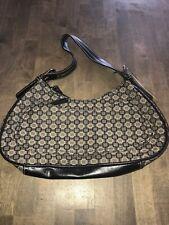 Nine West  Black Brown Tan Tote Hobo Shoulder Bag Purse Handbag