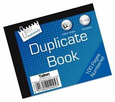 Half Size Duplicate Receipt Book Pad 1-100 Carbon Paper Numbered Pages Sheet