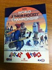 1991 World Junior Hockey Championship Media Guide Saskatchewan Esso Labatt Blue