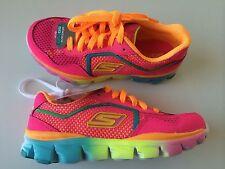 80685L/NPMT Skechers GO run Ride Running Shoes-Girls Size 12