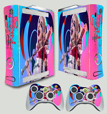 XBOX 360 ORIGINAL SHAPE HARLEY QUINN SUICIDE SQUAD 2 PINK STICKER & 2 PAD SKIN