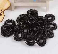 10x Girl Mini Elastic Rubber Hair Rope Band Ties Ponytail Holder Scrunchie Black