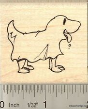 Dog in Halloween costume rubber stamp H11105 WM