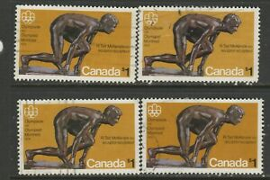CANADA #656 $1.00 OLYMPICS X4 USED GOOD CONDITION