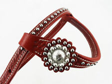 ONE EAR WESTERN HORSE TRAIL SILVER SHOW COWBOY LEATHER HEADSTALL FQH BRIDLE TACK