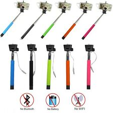 10 Lot Wired MonoPod Selfie Stick Holder iPhone Built in Shutter *Us Ship*