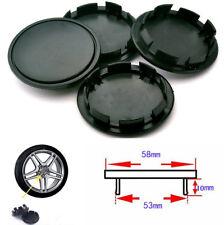 DIY Car Modified Accessories Wheel Center Hub Caps Decoration Cover Black ABS X4