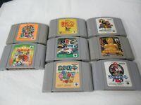 L184 Nintendo 64 x8 Set Japan N64 DK Mario Yossy Puyo Puyo