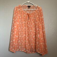 Escada Sport Orange Butterfly Long Sleeve Blouse Women's 42