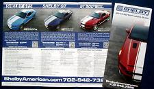 Prospekt brochure 2013 2014 Ford Mustang Shelby GTS * GT * GT500 (USA)