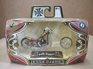 Jesse James West Coast Choppers NIB Gold Digger Diecast