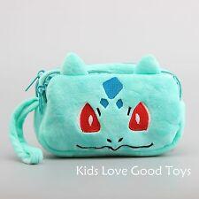 New Pokemon Bulbasaur Plush Bag Wallet Phone Coin Purse Anime Doll Toy Cute Gift