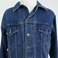 WRANGLER HERO BLUE LONG SLEEVE COTTON DENIM JEAN JACKET MENS SIZE L