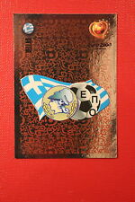 Panini EURO 2004 N. 30 HELLAS BADGE NEW With BLACK BACK TOPMINT!!