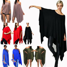 Women's Fashion Loose Baggy Tunic Batwing Sleeve Tops T-Shirt Blouse Plus size
