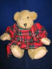 """MUFFY VANDERBEAR 7"""" 1982 Dressed in Red Flannel Christmas Tush Tag ~ RARE"""
