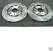 PEUGEOT 207 CC HDI 16V HATCBACK SW BRAKE DISC CROSS DRILLED GROOVED BRAKE DISC
