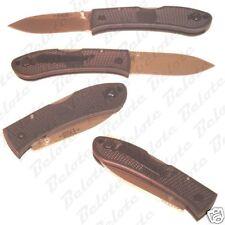 Ka-Bar KaBar Bob Dozier Black Folding Hunter Plain Edge 4062