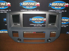 06-08 Dodge Ram 1500-3500  Grey / Carbon Look Navigation Radio Bezel Double DIN