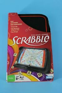 New Travel Scrabble Crossword Game Play Anywhere Take Everywhere Hasbro Ages 8+