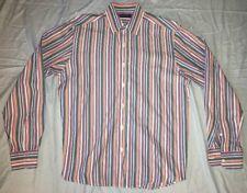 Men's Ralph Lauren Purple Label Button Down Shirt Striped Size M Colorful Italy