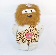 "Jumbo Caveman 21"" Love Doll w/Voice & 3 Sayings ~ Soft, Fuzzy Grown-Up Plush Toy"