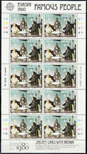 Jersey - 1980 Europa Famous People complete sheets Sc# 229/230 - Mnh (7667)