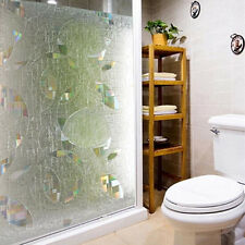 90cm X 50cm 3D Static Glass Window Film Stained Film Paper Frosted Decorative
