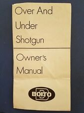 Boito Over and Under Shotgun Owners Manual - Original
