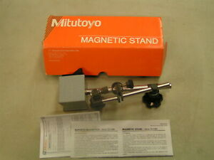 MITUTOYO 7011BN MAGNETIC STAND INDICATOR HOLDER  W/FINE ADJUSTMENT MILL LATHE