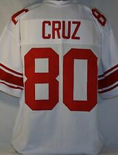 Victor Cruz Unsigned Custom White Football Jersey Men's Size 2XL