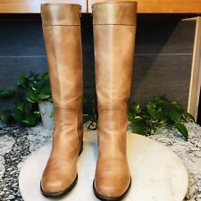 Stuart Weitzman To-The-Knee Leather Tan Riding Boots Size 8M