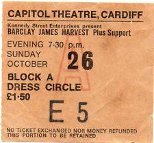 BARCLAY JAMES HARVEST BAND CONCERT TICKET 1975 ORIGINAL VINTAGE 43 YEARS OLD GEM