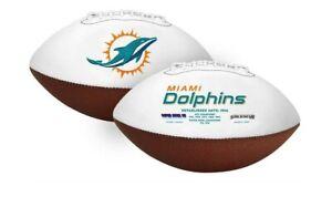 Miami Dolphins White Panel Logo Football