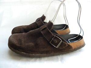 Birkenstock Boston Brown Leather Clogs Men's Size 9