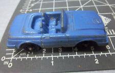 vintage metal die cast Tootsie Toy, lilac 450 SL mercedes, rubber wheels , nice!