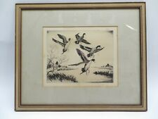 Pintails signed original etching of ducks by Churchill Ettinger