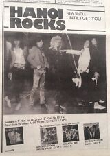 HANOI ROCKS Until I Get You 1983  UK Press ADVERT 10x8 inches