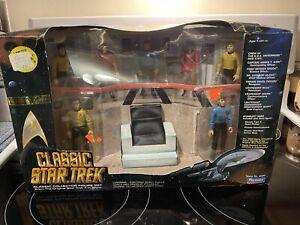 Playmates Star Trek Classic Enterprise Bridge Play Set MIB Kirk Spock McCoy