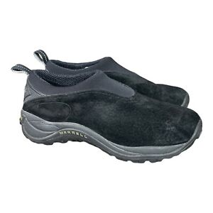 Merrell Orbit Moc Black Suede Leather Slip on Trail Hiking Shoes Mens 10