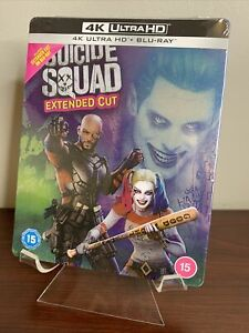 Suicide Squad Extended Cut Steelbook (4K UHD+Blu-ray) Factory Sealed